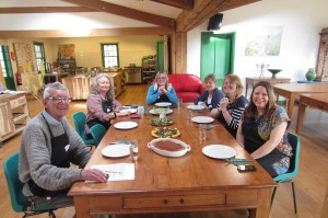 Natural Cookery School students at the Organic Farm Shop, Cirencester