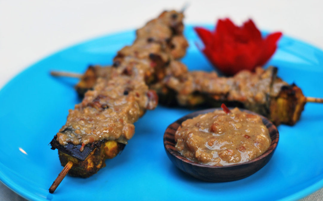 Squash and tofu satay 1 skewer (gf)