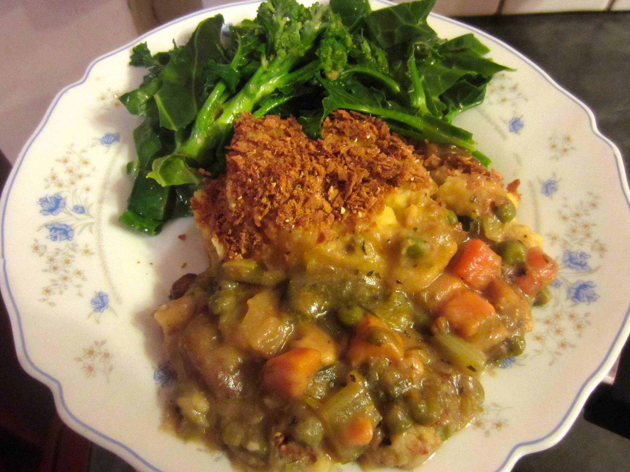Tofu and Root Vegetable Mash Pie