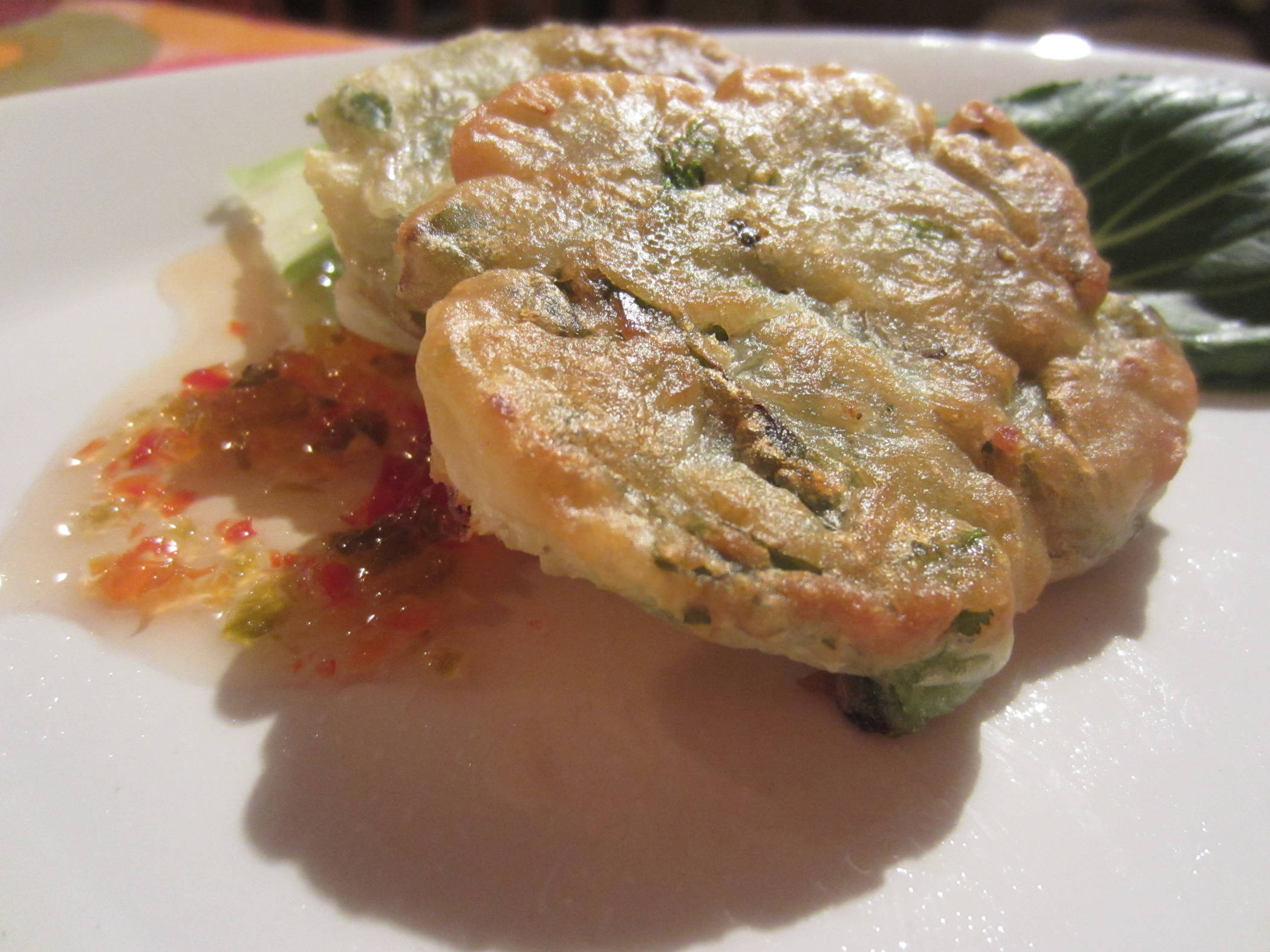 Thai Pea and Spring Onion Fritters