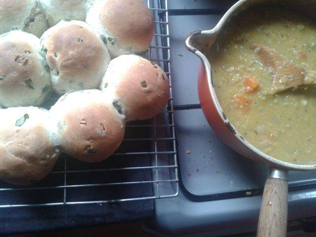 Wild Garlic and Poppy Rolls