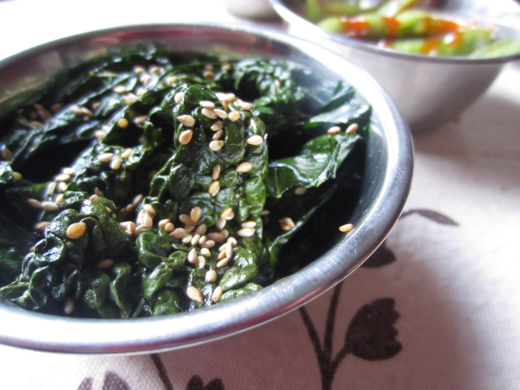 Sesame Kale Crisps - Natural Cookery School