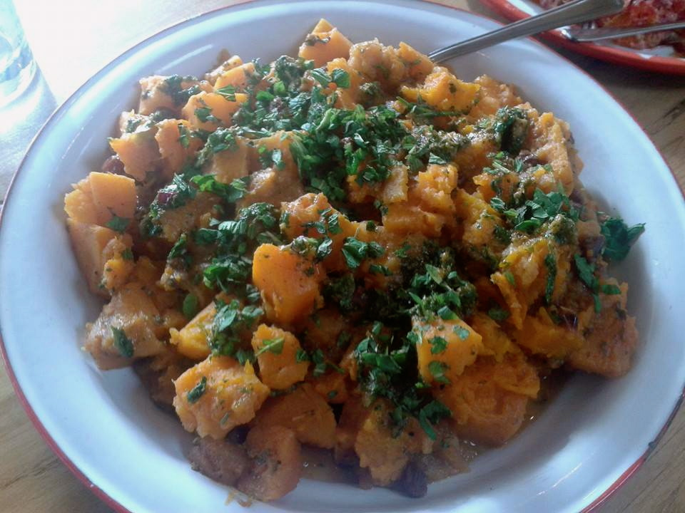 Pumpkin, Apple and Sultana Tagine