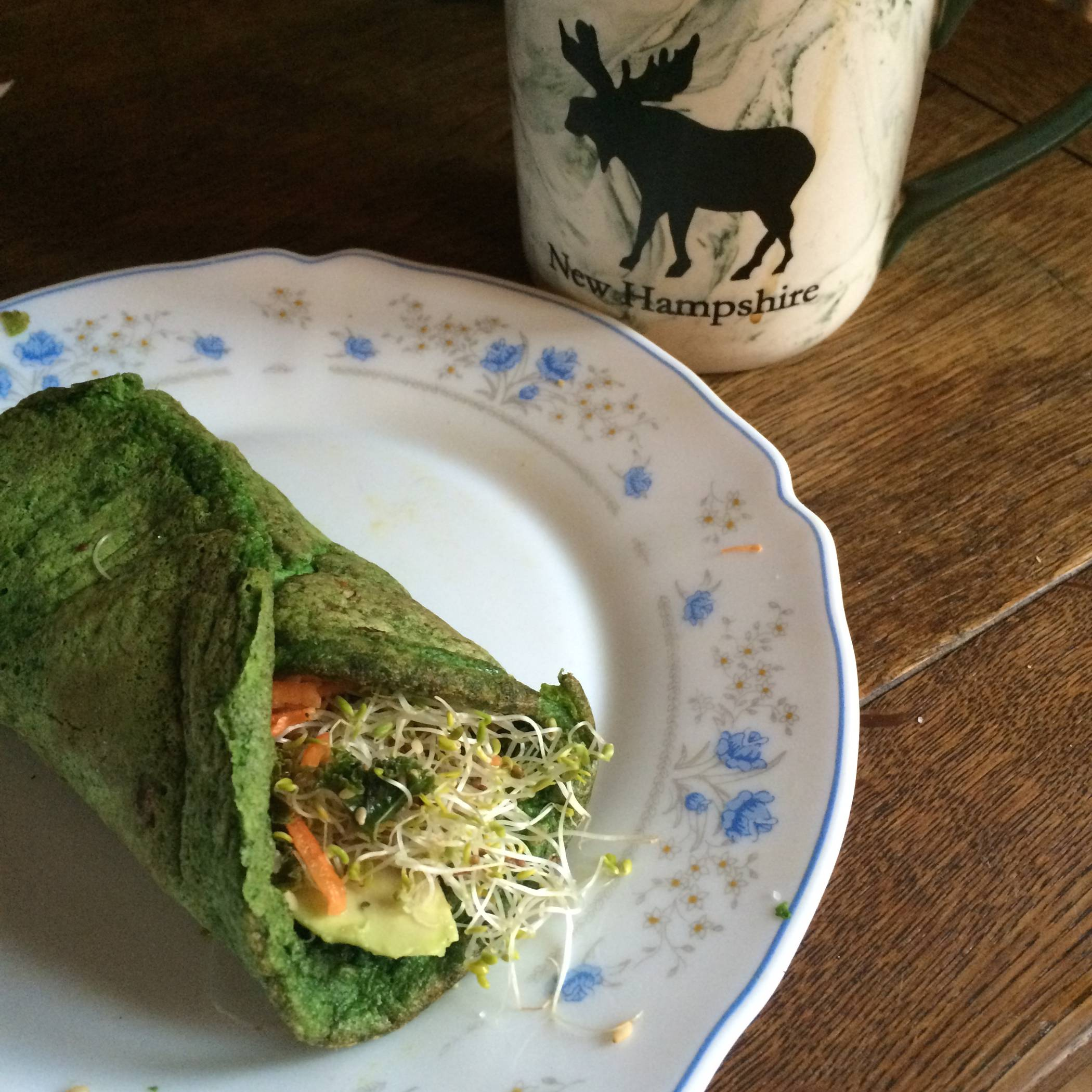 Spinach Breakfast Wrap