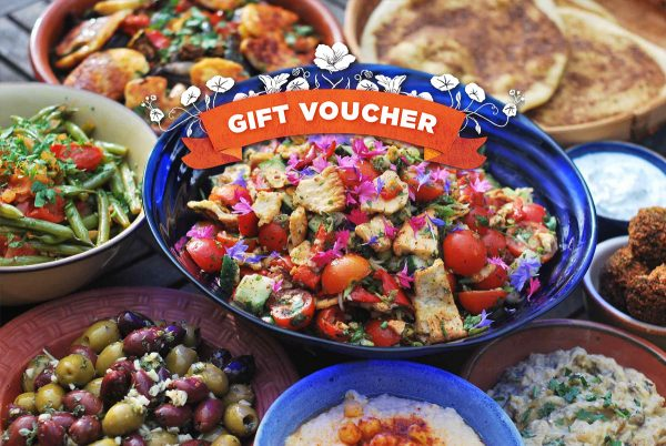Natural Cookery School printed gift voucher - front