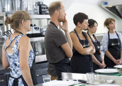 Students at a Natural Cookery School class