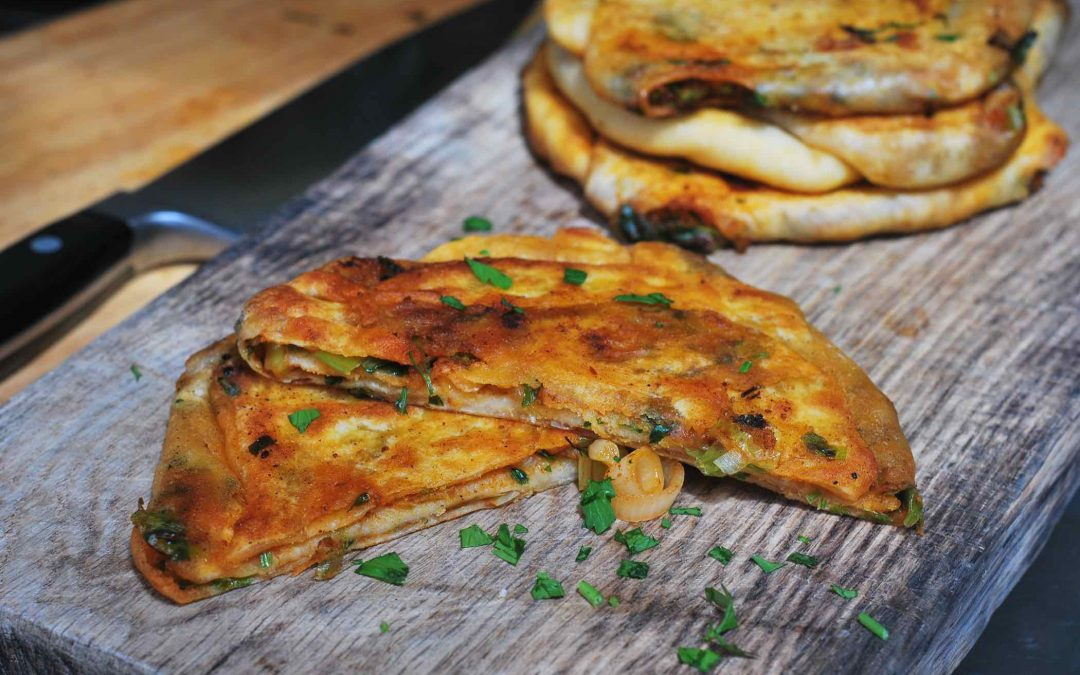 Moroccan stuffed flatbread