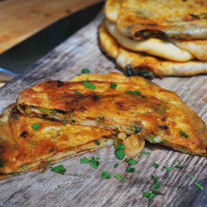 Moroccan stuffed flatbreads