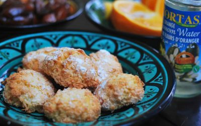 Coconut and orange blossom biscuits