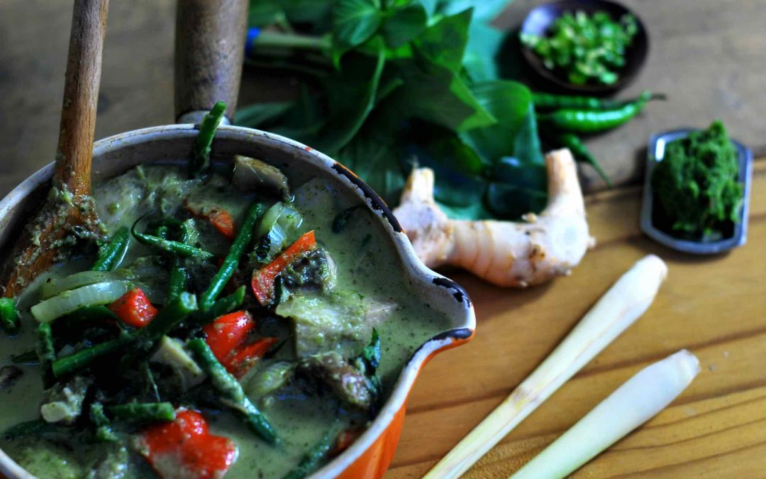 Thai green curry with green jackfruit